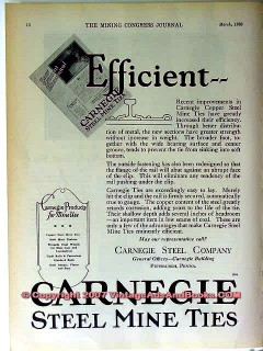 carnegie steel company 1928 efficient copper steel mine tie vintage ad