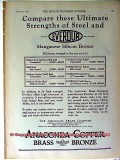 american brass company 1928 compare steel and everdur vintage ad