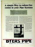 a m byers company 1928 reduce corrosion your pipe system vintage ad
