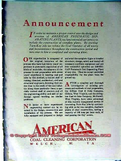 american coal cleaning corp 1928 pneumatic separating plant vintage ad