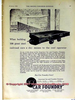american car foundry 1928 building 100 steel rail cars vintage ad