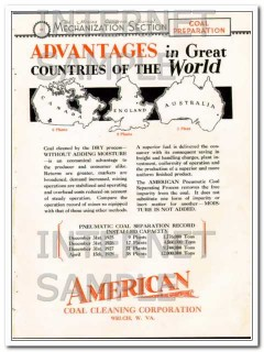 american coal cleaning corp 1928 process proves advantages vintage ad