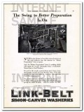 link-belt company 1928 better preparation simon-carves wash vintage ad