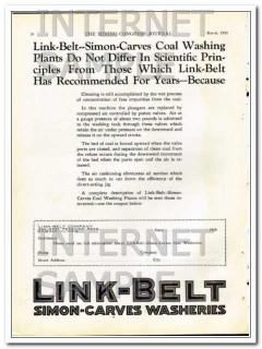 link-belt company 1928 better preparation simon-carves wash vintage ad