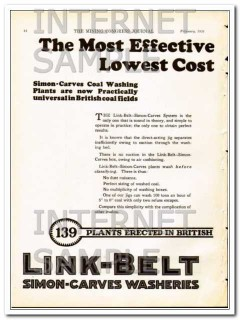 link-belt company 1928 clean coal before sizing mine wash vintage ad