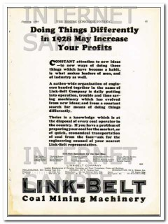link-belt company 1928 doing differently increase profits vintage ad