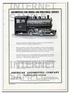 american locomotive company 1910 mining industrial service vintage ad