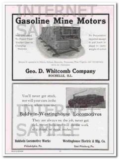 baldwin-westinghouse locomotives works 1910 never stuck vintage ad