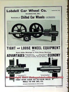 lobdell car wheel company 1910 tight and loose equipment vintage ad