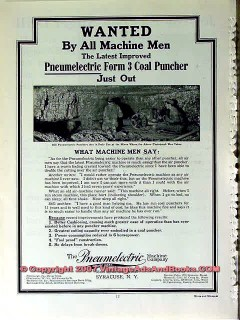 pneumelectric machine company 1910 wanted coal puncher vintage ad