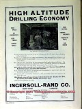 ingersoll-rand company 1910 high altitude drilling economy vintage ad