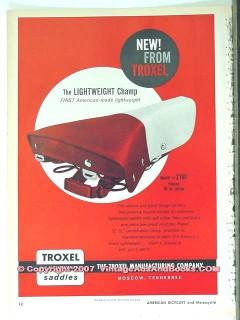 troxel mfg company 1963 bicycle saddle seat vintage ad