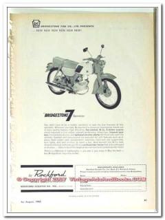 bridgestone tire company 1963 rockford scooter 7 sportster vintage ad