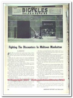 andys bicycle shop 1963 manhattan nyc ny bike shop vintage article