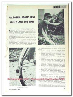 california safety laws for bikes 1963 bicycle vintage article