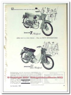 bridgestone tire co 1963 wise choice rockford scooter 7 50 vintage ad