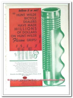 hunt-wilde corporation 1963 believe it or not bicycle grips vintage ad