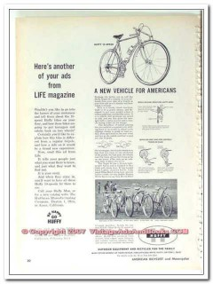 huffman manufacturing 1963 vehicle for americans huffy bike vintage ad