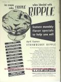 Balch Flavor Company 1951 Vintage Ad Ice Cream Triple Ripple