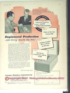 Cherry-Burrell Corp 1951 Vintage Ad Ice Cream Engineered Production