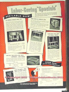 Cherry-Burrell Corp 1951 Vintage Ad Ice Cream Mfg Equipment Specials