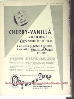 Virginia Dare Extract Company 1951 Vintage Ad Cherry-Vanilla Flavor
