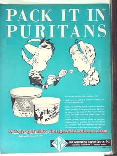 American Paper Goods Company 1951 Vintage Ad Ice Cream Carton Purtians