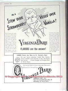 Virginia Dare Extract Company 1951 Vintage Ad Ice Cream Vanilla Flavor