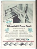 Marathon Corp 1951 Vintage Ad Ice Cream Cartons Fountain Selection