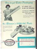 Bloomer Bros Company 1951 Vintage Ad Ice Cream Spede-Pac Pails Packing