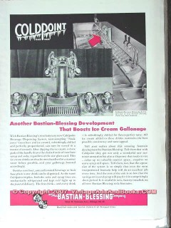 Bastian-Blessing Company 1951 Vintage Ad Ice Cream Fountain Coldpoint
