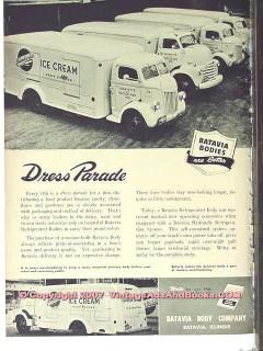 Batavia Body Company 1951 Vintage Ad Ice Cream Trucks Dress Parade