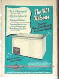 C Nelson Mfg Company 1951 Vintage Ad Ice Cream Cabinet Greatest Value