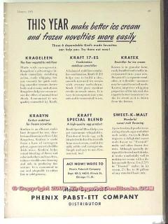 Phenix Pabst-Ett Company 1951 Vintage Ad Ice Cream Better More Easily