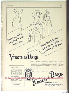 Virginia Dare Extract Company 1951 Vintage Ad Ice Cream Vanilla Better