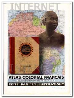 atlas colonial francais 1931 french colonial atlas book vintage ad