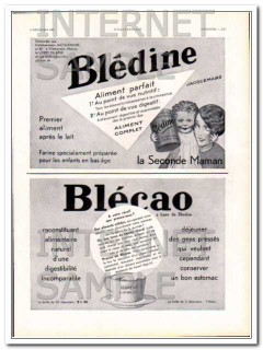 bledine 1931 french baby food suppliment blecao digestive vintage ad