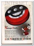 marquise de sevigne 1932 boite message cloute french candy vintage ad