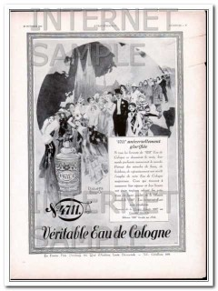 4711 1930 french cologne vintage ad