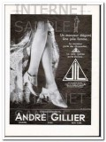 andre gillier 1930 french jil stocking legs hosiery vintage ad