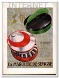 marquise de sevigne 1934 elegant boxed chocolate candies vintage ad