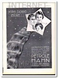 petrole hahn 1934 french men woman child hair care vintage ad