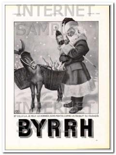 byrrh 1936 by georges leonnec french santa claus wine vintage ad