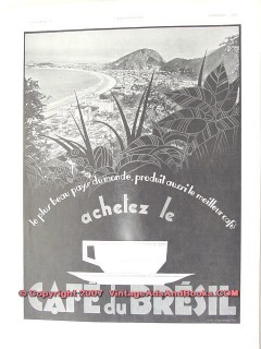 brazil coffee 1934 french most beautiful country buy best vintage ad