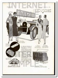 hotchkiss 1930 notes of elegance car show women clothing vintage ad