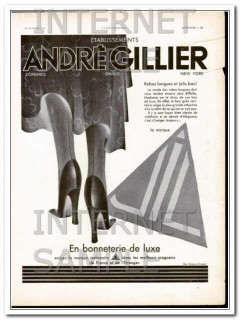 andre gillier 1930 french long dresses of fashion luxury vintage ad