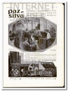 paz et silva 1930 art deco phonograph amplifier gramophone vintage ad