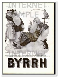 byrrh 1937 christmas santa happiness health french wine vintage ad