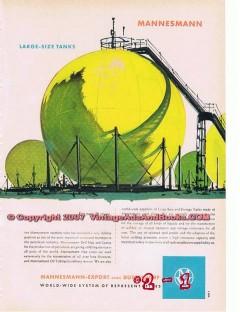 Mannesmann-Export 1955 Vintage Ad Oil Gas Large-Size Tanks Storage