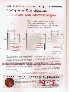 Petro-Chem Development Company 1955 Vintage Ad Oil Petrochem Furnaces